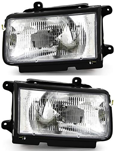 JP Auto Headlight Compatible With Isuzu Rodeo Amigo Honda Passport 1998 1999 Driver Left And Passenger Right Side Pair Set Headlamp