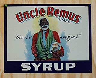 MMNGT TIN Sign ~ Uncle Remus Syrup DIS SHO' AM Good TIN Sign 7.8X11.8 INCH