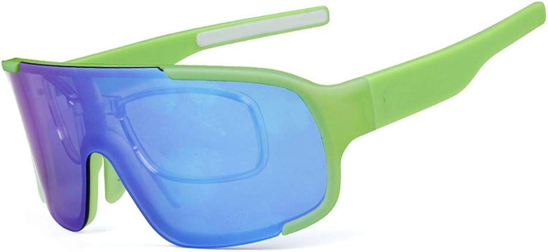 Men Cycling Glasses Polarized Windproof UV 400 3 Lens Myopia Frame Road MTB Bike Eyewear Outdoor Sports Fishing Hiking Glass