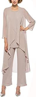 Best mother of the bride pant suits chiffon Reviews