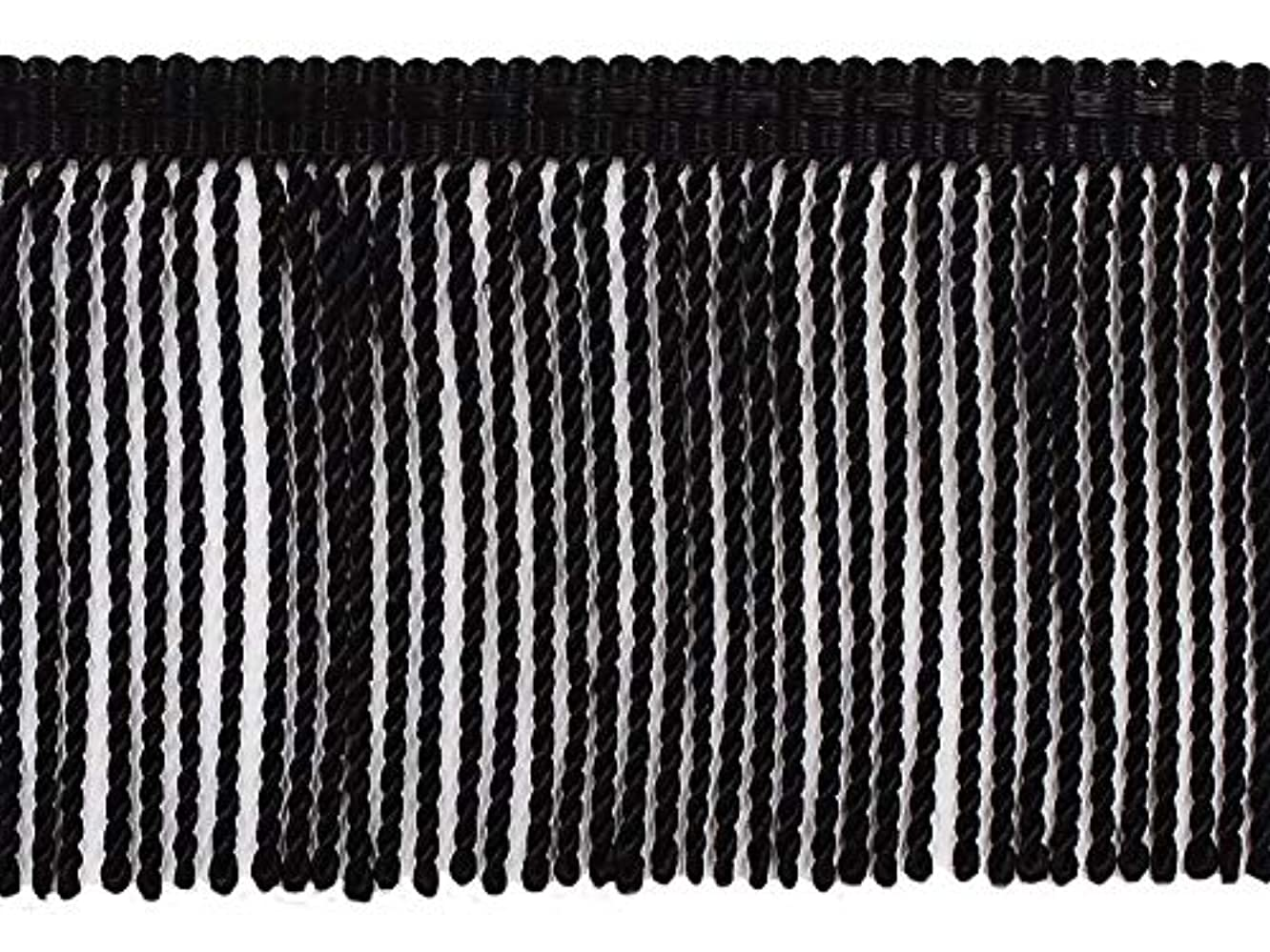 DecoPro 24 Yard Package - 3 Inch Long Black Thin Bullion Fringe Trim, Style# BFTC3 Color: K9 (72 Ft / 21.9 Meters)