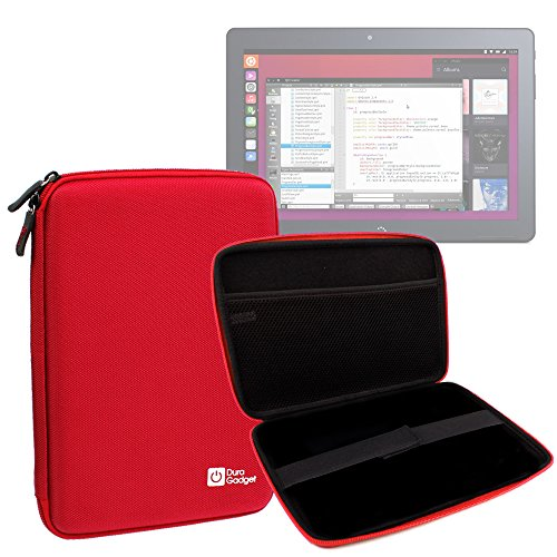 DURAGADGET Funda Tapa Dura Roja para la Tablet BQ Aquaris M10 Ubuntu Edition 10.1' | HD | Full HD - ¡Guarde Su Tableta De Una Manera Segura!