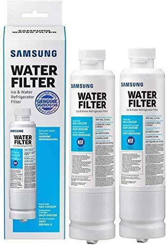 DA29-00020B Refrigerator Water Filter Replacement Suitable for Samsung DA29-00020A, HAF-CIN/EXP, RF28HFEDBSR, RF263BEAESR, RF263TEAESG, RF28HDEDBSR, 2 PACKS