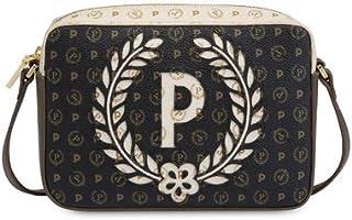 Pollini - borsa a tracolla heritage con logo grande - Avorio2, UN