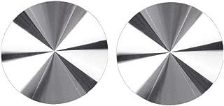 TRUE LINE Automotive Silver Aluminium Alloy Cup Holder Chrome Round Insert Interior Car Tray