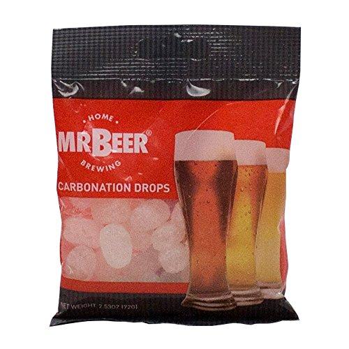 MrBeer Pastiglie per carbonatazione birra - conf da 72 gr con 22 confetti di gocce di carbonato