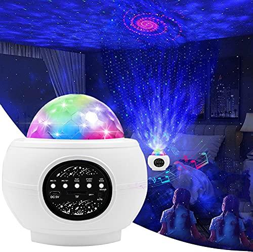smartcamp Proyector LED de cielo estrellado para adultos, luz de estrellas, proyector de luz nocturna para niños y bebés, proyector de estrellas con música, altavoz Bluetooth para fiestas