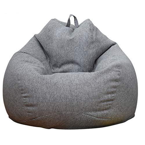 JJZXD Silla de puf de Lino de algodón Lavable con Relleno y Forro Adultos Bebé Niño Puf de Relleno Grande Otomano Lazy Beanbag Sofá reclinable