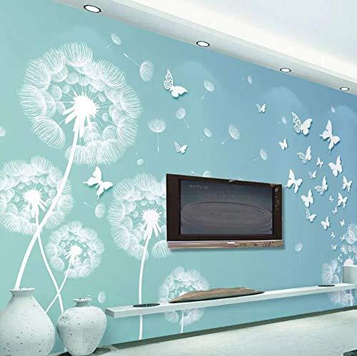 Behang van vlies, 3D-tafelkleed, motief: bloemen en turtelpatroon, voor woonkamer, slaapkamer, naadloos 250*175