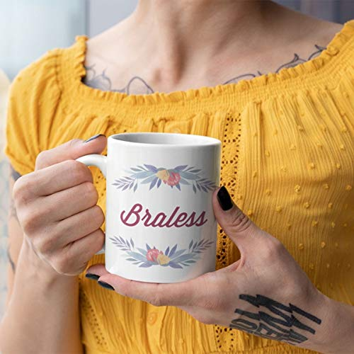 Braless Feminist Mok Feminist Gift Feminisme Mok Feminisme Gift Geen BH Womens rechten Borstvoeding Grappige Koffie Mok Grappige Thee Mok
