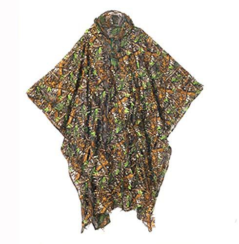 Poser Caccia Ghillie Suit Jungle Camouflage Mantello Caccia Mantello Army Outdoor Caccia Airsoft Shooting Halloween per Adulti