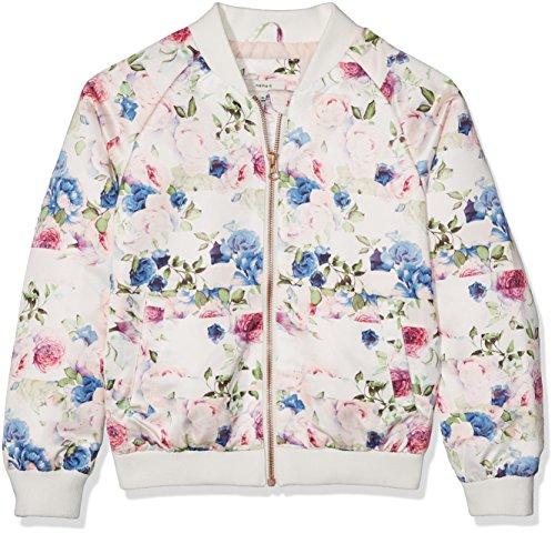 NAME IT Nitmacy Bomber Jacket Nmt Chaqueta, Multicolor (Snow White), 128 para Niñas