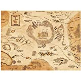 UNFIX Camelot Map King Arthur Art Prints Canvas Painting Poster Canvas Prints Wall Art Pictures for Home Wall Decor -20x28 Inch No Frame 1 PCS
