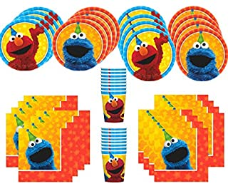 MSS Sesame Street Birthday Party Supplies Bundle Pack for 16 Guests (B06XFKQBCQ)   Amazon price tracker / tracking, Amazon price history charts, Amazon price watches, Amazon price drop alerts