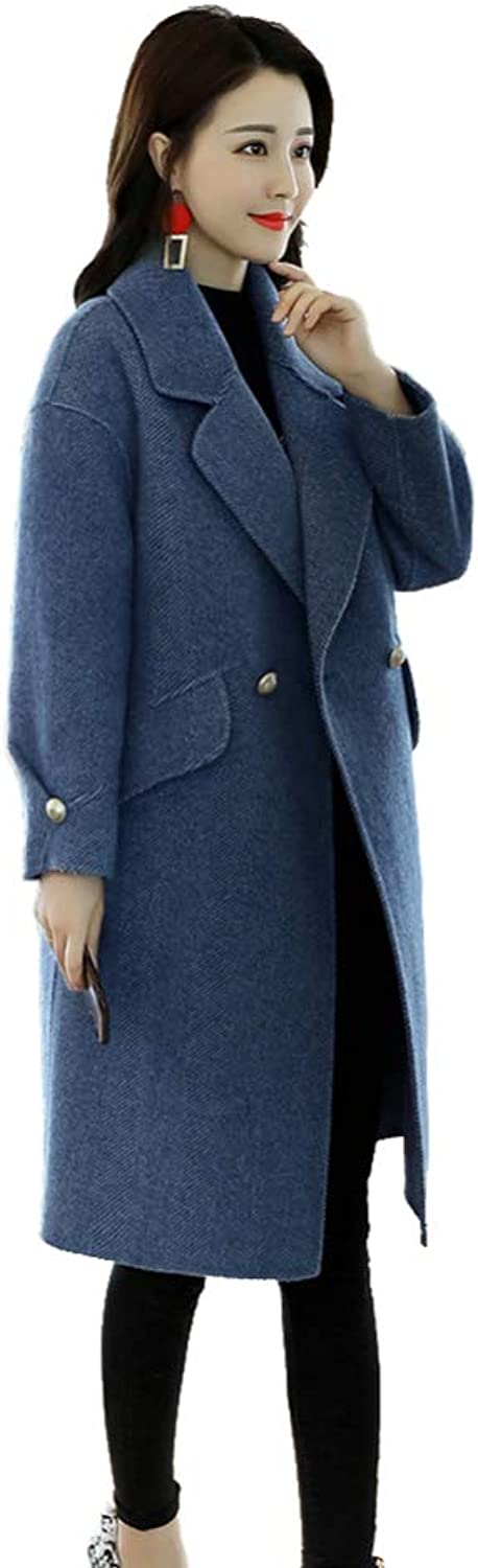 LXIANGP Women's Jacket 2018 Autumn and Winter Fashion Korean Version of Loose Comfortable LongSleeved Coat, 3 colors MXXL
