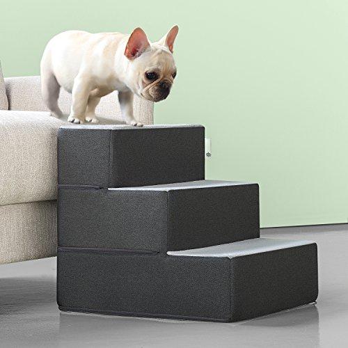 Zinus PS-C2118C Easy Pet Stairs/Pet Ramp/Pet Ladder, Medium, Grey