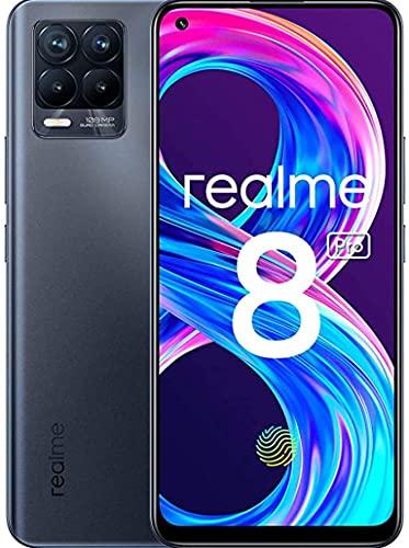 realme 8 Pro Smartphone, Ultra Quad Camera da 108 MP, Display Super AMOLED da 16,3 cm (6,4 ), Ricarica SuperDart da 50W, Grande batteria da 4.500 mAh, Dual Sim, NFC, 8+128GB, Infinite Black