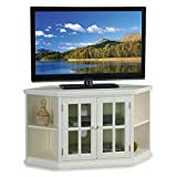 Leick Home White 46' Corner Tv Stand with Bookcases