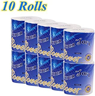 Soft Strong and Highly Absorbent Toilet Tissue 10 Rolls Silky /& Smooth Soft Professional Series Premium 3-Ply Toilet Paper