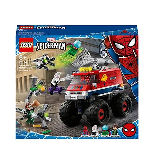 LEGO76174SuperHeroesMarvelSpider-MansMonstertruckvs.MysterioSpielzeugmitDoctorOctopusundSpider-GwenMinifiguren