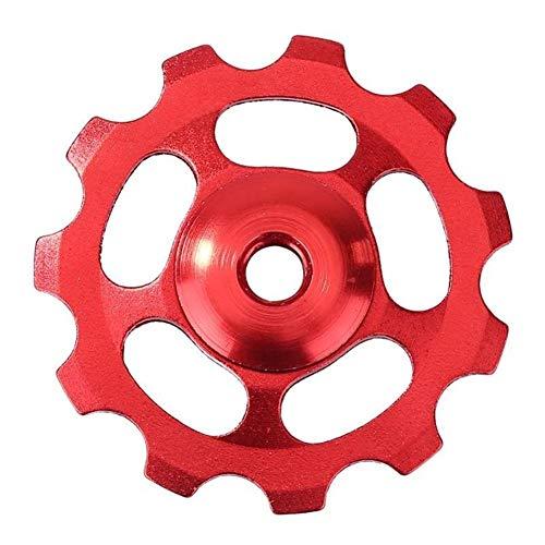 NOBRAND Rueda Jockey 11T Guía for Bicicleta de montaña MTB Desviador Trasero de rodamiento de Rodillos de cerámica de aleación de Aluminio de Ciclo de Accesorios (Color : Red)