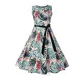 maxsan Summer Dress Women Vestidos Floral Sleeveless Midi Party Red Elegant Vintage Robe Pin Up Swin...