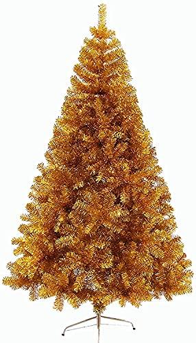 SHBV Albero di Natale, Decorazione di Alberi Artificiali Albero di Natale Fai da Te con Supporto in Metallo Albero di orpelli Natalizi Pieghevole Glitter Pet Decorazioni Natalizie Dorate (Colore: