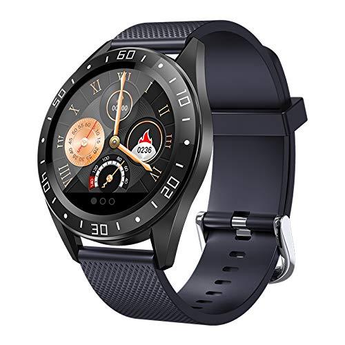 Huante GT105 3,2 cm Smartwatch für Herren und Damen, Herzfrequenz- und Blutdruckmessgerät, Smartwatch mit Wetteranzeige, Musiksteuerung, Anruf, Blau