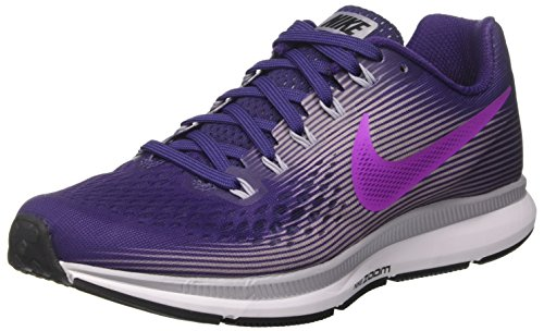Nike Nike Mädchen WMNS Air Zoom Pegasus 34 Laufschuhe, Violett (Ink/Hyper Violet/Provence Purple/Barely Grape/Black/White), 36 EU