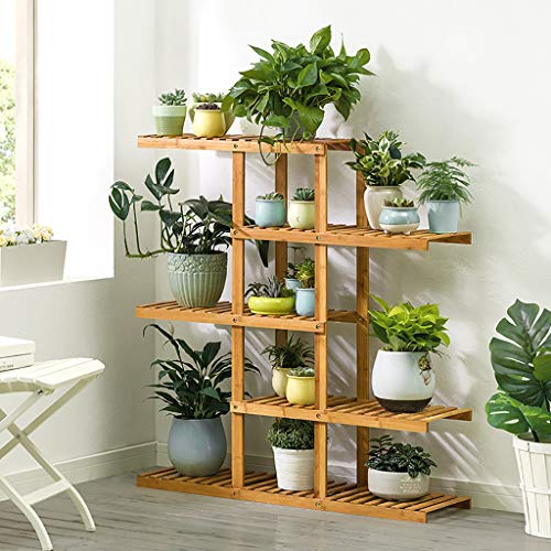 Porte-fleurs Bamboo Landing Multi-layer Rack pour succulentes intérieur Support pour balcon (taille : 98 * 28 * 106cm)