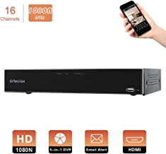 Evtevision 16CH 1080N AHD DVR Hybrid AHD+HVR+TVI+CVI+NVR 5-in-1 Security System Realtime Standalone CCTV Surveillance Onvif P2P QR Code Scan w/Easy Remote Smartphone View HDMI/VGA Output (NO HDD)