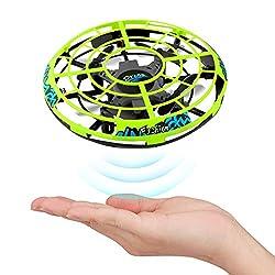 UFO done a induzione a infrarossi: il mini drone adotta la tecnologia dei sensori a infrarossi con una forma UFO unica e un sensore intelligente sul lato e sul fondo. Il drone volante reagirà rapidamente in base al tuo movimento e rileverà gli oggett...