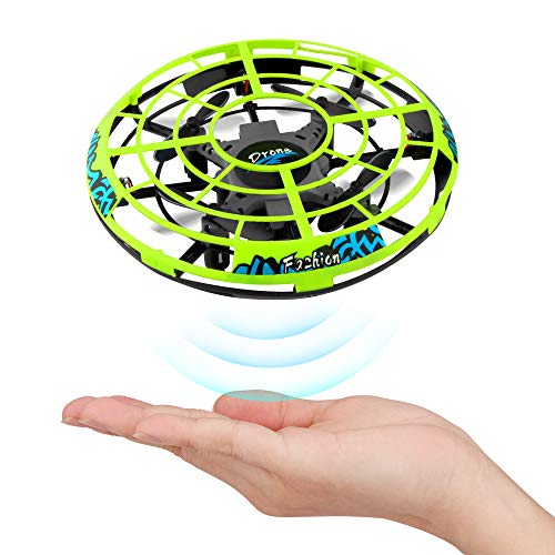 Epoch Air NO.LH-X40 UFO Mini Drone, Kids Hand Helicopter RC Quadcopter Infrared Induction Remote Control Flying Aircraft Games Gifts for Boys Girls Adults Indoor Outdoor Garden Ball Toys, Green