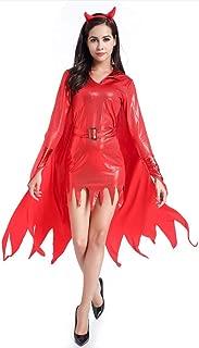 Goddessvan Fashion Women Halloween Cosplay Vintage V-Neck Witch Devil Mini Dress