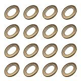 INCREWAY 16 Ojales de Cortina, 4 cm de diámetro Interior, plástico ABS de bajo Ruido, Cortina de Anillo Romano, Anillos de Costura, Ojales Superiores (marrón)