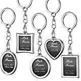 10 Pieces Photo Frame Keychain Metal Frame Keychain, Picture Frame Keyring, Keychain with ...