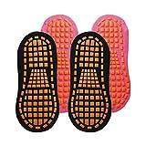 SaniMomo 4er Stoppersocken ABS Antirutschsocken Baumwolle Hausschuhsocken Anti-Rutsch Socken für Damen Herren Kinder Gr. 35-43