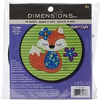 Dimensions Little Red Fox Felt Applique Kit Craft for Beginners, 6'' D