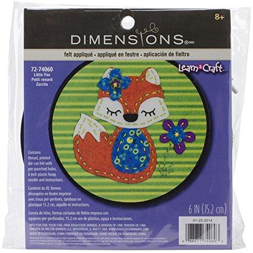 Dimensions Little Red Fox Felt Applique Kit Craft, Oversized