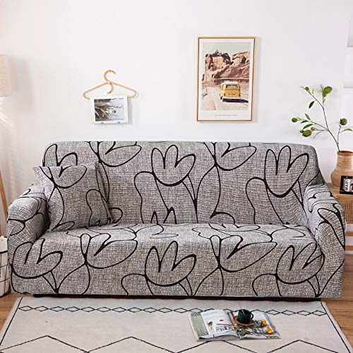 Stretch Sofa Cover Slipcovers Elastic All-inclusive Couch Case for Different Shape Sofa CaseDust protection cover A23 2 seater