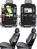 PewinGo 4 Pezzi Protezione Sedili Auto Bambini Proteggi Sedile Organizzatore Sedile Posteriore Impermeabile con 16 Tasche Portaoggett