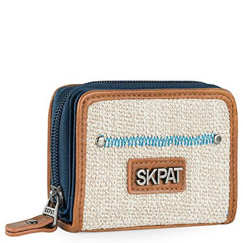 SKPAT - Cartera de Mujer de Piel Ecológica con Monedero, Tarjetero y Billetera Ideal para Uso Diario 307527, Color Azul
