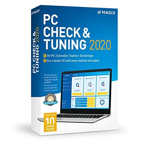 MAGIX PC Check & Tuning – Version 2020 – Macht Ihren PC: Schneller. Stabiler. Geräumiger.|Standard|1|1 Year|PC|Disc|Disc