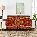 Zemivs Persische Textur Ornament Runde Mandala Muster Royal Red Stuhl Schonbezug Gepolsterter Stuhl...