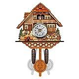 BTMING Hotsale Retro Estilo Nórdico Pared Alarma Niños Tiempo de Madera Tiempo Banda Banda Alemán Black Forest Cuckool Reloj Swing Educational Juguetes