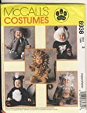 McCall Sewing Pattern 8938 - Use to Make - Toddler's Costumes - Skunk, Lion,...