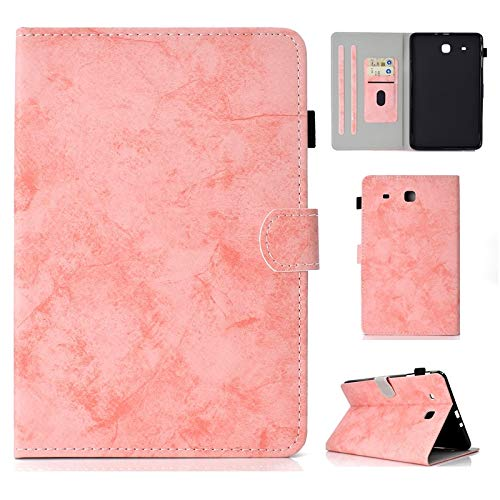 Rongjuyi PU lederen tablet standaard Smart Case Cover voor Samsung Galaxy Tab E 9.6 inch SM-T560 / SM-T561
