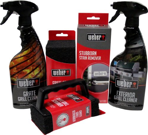 Weber Grill Cleaning Kit - Exterior and Grate Grill Cleaner, Stubborn Stain...