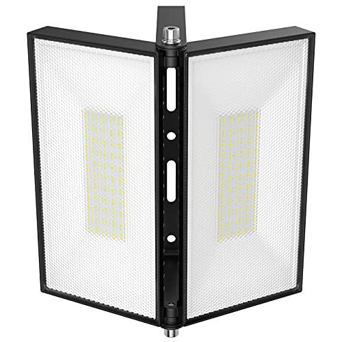 Onforu 100W LED Strahler Außen, 9000LM Superhell LED Fluter mit Verstellbarem Kopf, 6000K Kaltweiß Flutlicht, IP66 Wasserdicht Außenstrahler, Scheinwerfer Flutlichtstrahler für Garage, Hof, Sportplatz