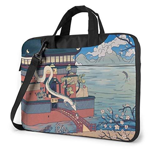 XCNGG Spirited Away Anime Laptop Hombro Messenger Bag Tablet Computadora Almacenamiento Mochila Bolso 14 Pulgadas